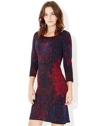 Elizabeth Jacquard Fishtail Dress
