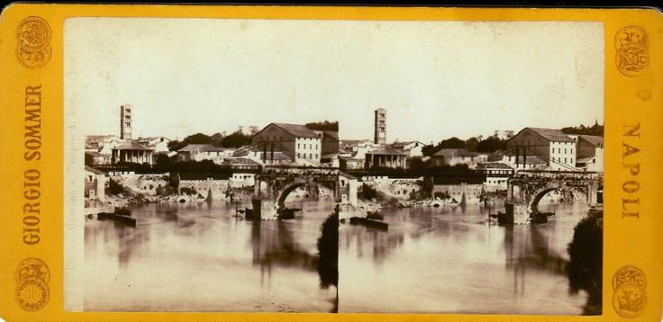 Stereograph view of Tiber, Rome