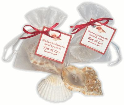 Discount, Cheap, Beach Wedding Favors! - Scented Candles, Shell Themed, Bridal & Wedding Favors, Wholesale...!