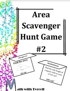 Best 25 finding area ideas on pinterest year 5 maths area area scavenger hunt 2 ccuart Images