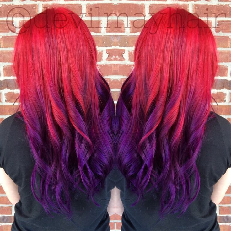 red and purple hair styles to purple sunset hair ombr 233 done using pravana vivids 8184 | 4ed2a4e4f6c69119a0cbebc9c2712219 purple sunset sunset hair