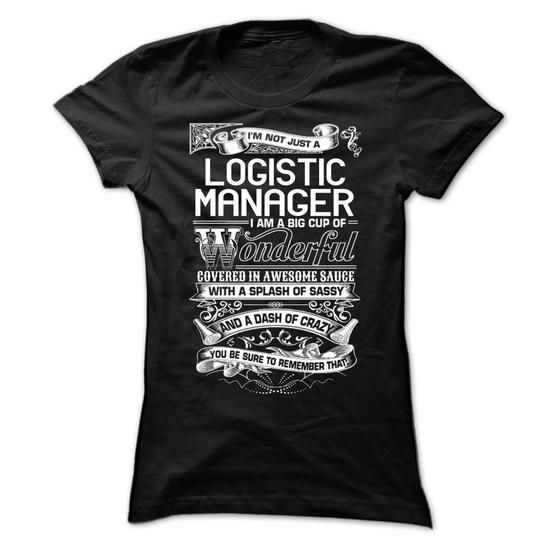 Logistic Manager - #gift for women #thoughtful gift. GET => https://www.sunfrog.com/LifeStyle/Logistic-Manager-Ladies.html?60505