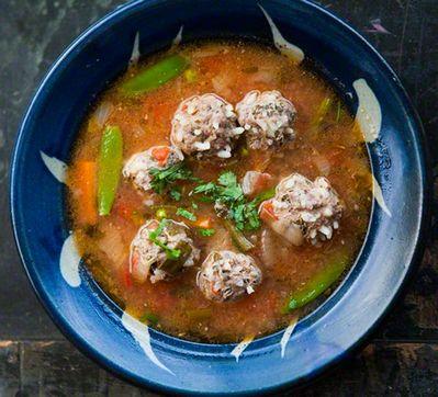 Как сварить мексиканский суп с фрикадельками