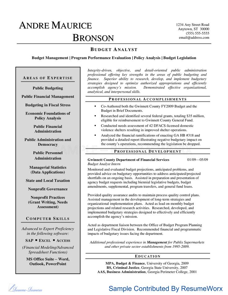 62 best business 101 images on Pinterest Sample resume, Resume and - legislative analyst sample resume