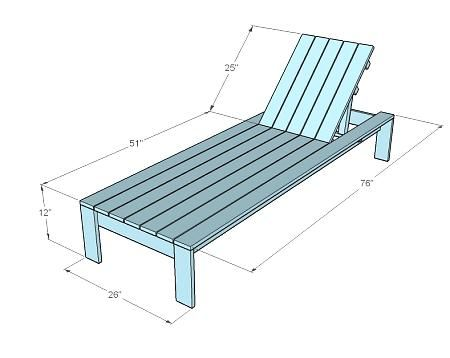 Plans for a LOUNGER.I would like (at least) 4 of these for around the ...