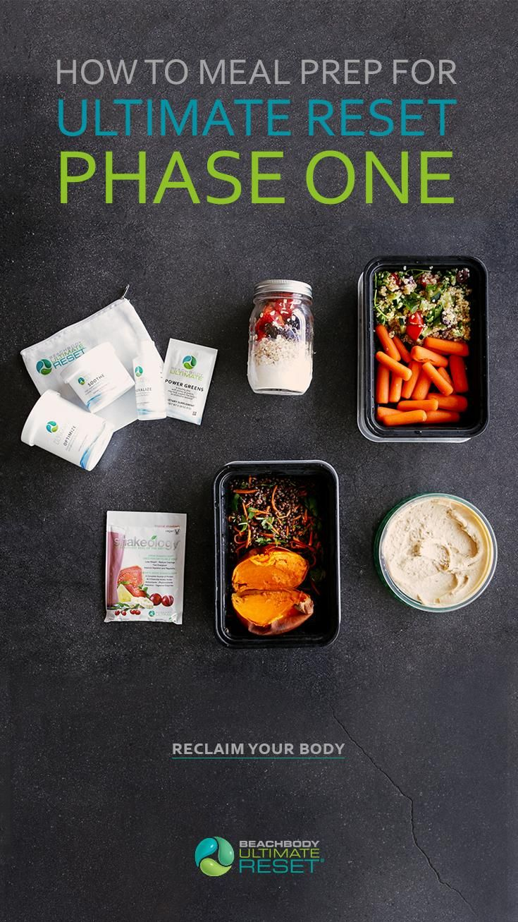 Whether you're looking to get healthy and fit for the first time or you want to take your fitness regimen to the next level, the Ultimate Reset can help support and restore your body so you can reach your goals faster. Click through for a meal prep plan! // Beachbody // BeachbodyBlog.com