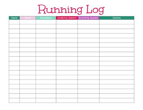 Las 25 mejores ideas sobre Run Log en Pinterest El planificador - training log template
