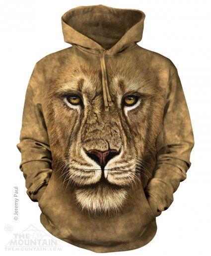 Lion Warrior - Bluza The Mountain - Bluza z lwem- www.veoveo.pl - bluzy z kapturem z nadrukami