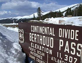 Winter Park:  Berthoud Pass ~ a mountain summit on the way to Winter Park