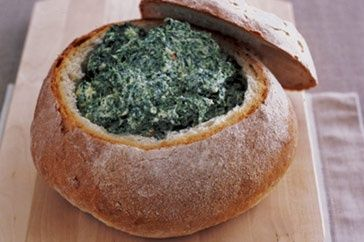 Spinach and Cheese Cobb Loaf Dip