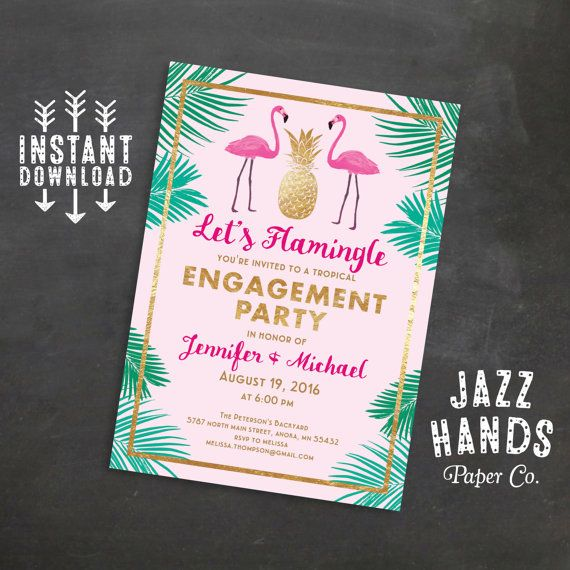 Best 25 Engagement invitation template ideas – Free Printable Engagement Party Invitations