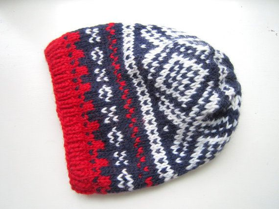 Slouchy Nordic Winter Hat PDF knitting pattern by byEline on Etsy, $4.49