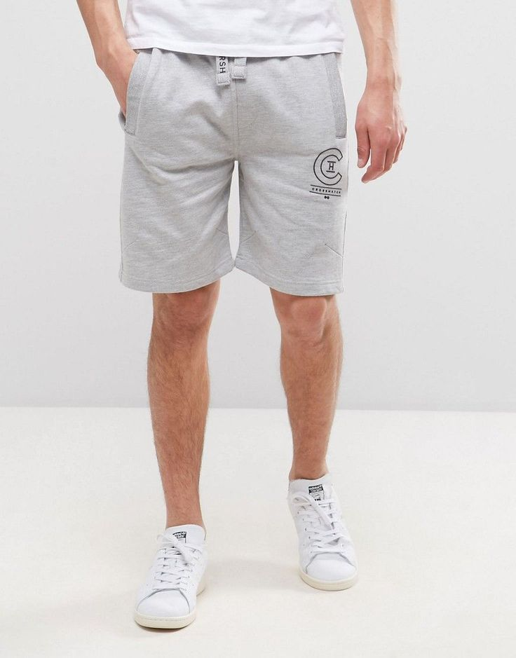 Get this Crosshatch's sporty shorts now! Click for more details. Worldwide shipping. Crosshatch Logo Sweat Shorts - Grey: Shorts by Crosshatch, Soft-touch sweat, Drawstring waistband, Functional pockets, Logo detail, Regular fit - true to size, Machine wash, 55% Cotton, 45% Polyester, Our model wears a W 32 and is 188cm/6'2 tall. (pantalón corto deportivo, sports, sport, gym, pantalón corto de deporte, workout, deporte, pantalones cortos de denim, pantalón corto de compresión, kurze sport...