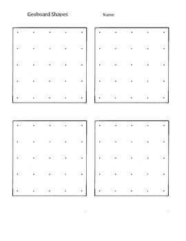 Use this sheet to record work completed on a geoboard. Transferring work helps students move from concrete thinking to abstract.