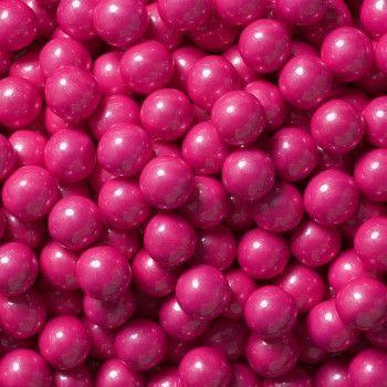 Sixlets Mini Chocolate Balls Shimmer Bright Pink