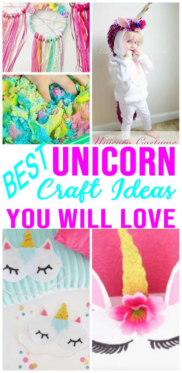 Charming MAGICAL Unicorn Crafts! EASY And SIMPLE DIY Unicorn Craft Ideas Kids, Teens,  Tweens And Adults Will Love. The BEST Unicorn Craft DIYs That Are Fun And  ...