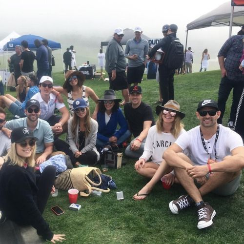 keleigh_sperry: Athletes first charity OC weekend @rebeccarittenhouse @mark_sanchez @cheeklane @jessicaszohr @scotty_mcknight @chacecrawford @nina