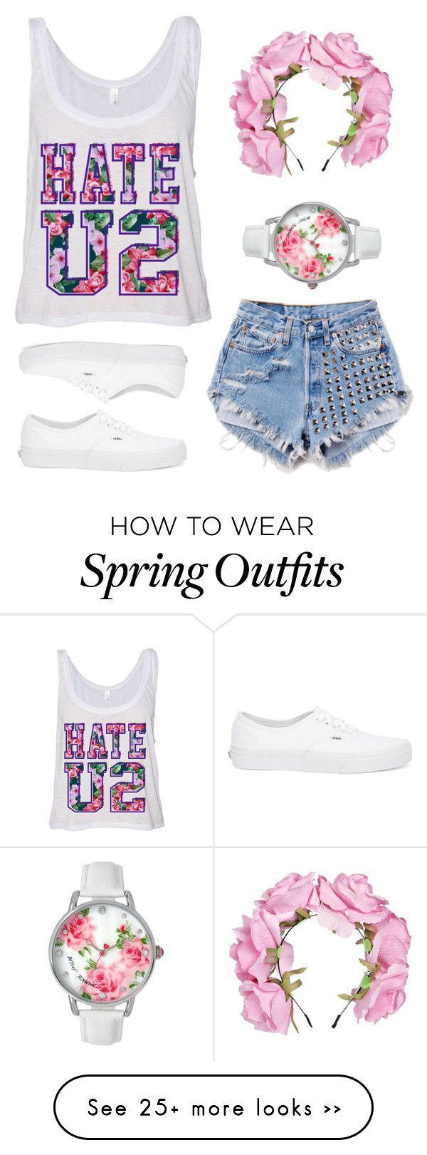 """Floral"" by all-r on Polyvore featuring moda, Runwaydreamz, Vans, Boohoo y Betsey Johnson"