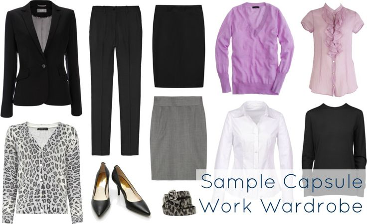 For work: Wardrobe Oxygen: Ask Allie: Cheap Work Clothing capsule wardrobe
