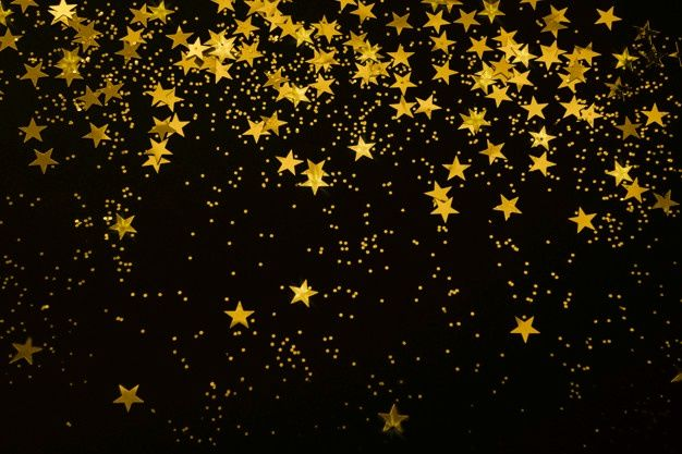 Gold Star Confetti And Glitter On A Black Background Christmas New Year Party Festive White Background Wallpaper Star Background Cool Backgrounds Gold black white wallpaper confetti