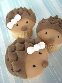 Wee Love Baking: Hedgehog and Hegehogette Cupcakes Tutorial