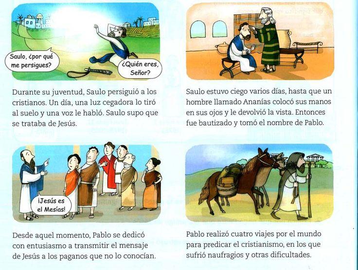 Materiales De Religión Católica Historia De San Pablo El Apóstol Incansable Historia De San Pablo Conversion De San Pablo Biblia Para Niños