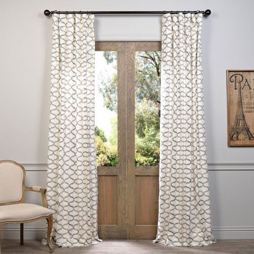 Half price drapes illusions silver grey 120 x 50 inch for 120 inch window treatments