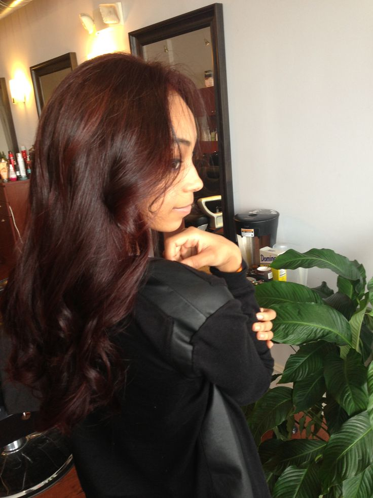 Dark Burgundy Hair For Tan Skin  Hair  Pinterest