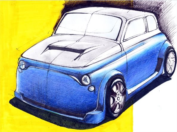 Fiat 500. #automotive #sketch #drawing #fiat #500 #modified #industrialdesign #transportationdesign  #vehicle #szekelydaniel  #darko #alwayscreative87 #beltonaru #tryingtosurvive