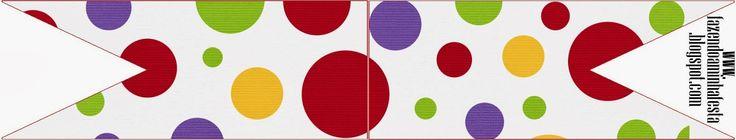 Rojo, morado, verde y amarillo: Tarjetería para Imprimir Gratis.