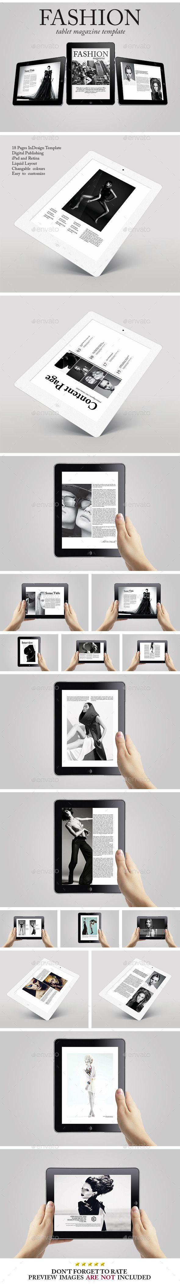 Tablet Fashion Magazine Template