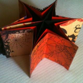 Halloween star book - open.  View 1 of 2.