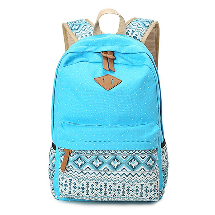 Vintage Girls School Bags for Teenagers Cute Schoolbag Printing Canvas Casual Bag School Backpack Rucksack Bagpack Book bags