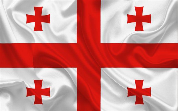 Descargar fondos de pantalla Bandera de Georgia, georgia bandera, Europa, Georgia