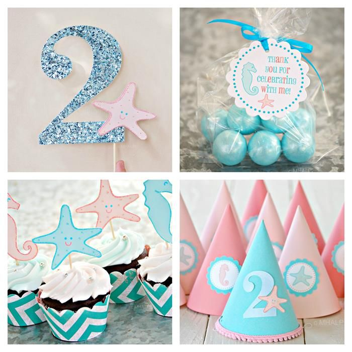 Under the Sea Party via Kara's Party Ideas #UnderTheSea #ocean #party #decorations #idea