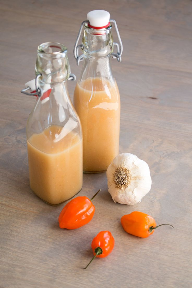 A spicy hot sauce recipe made with fiery roasted habanero peppers and plenty of garlic, ideal for dousing many of your favorite foods.