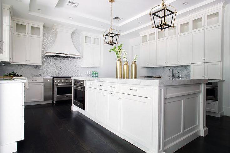 Black And Gold Lanterns Kitchens Pinterest White