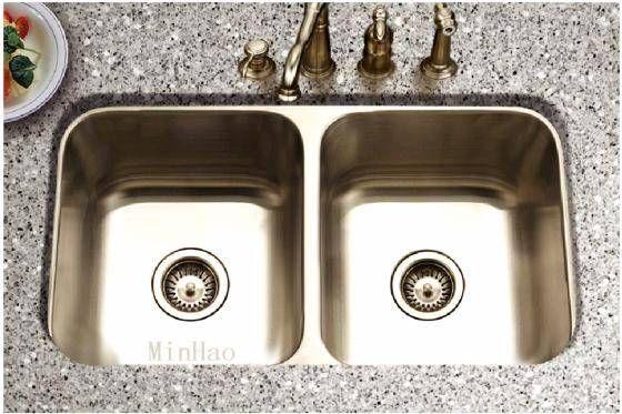 Twin ss kitchen sinks undermount - with essa stone crystal