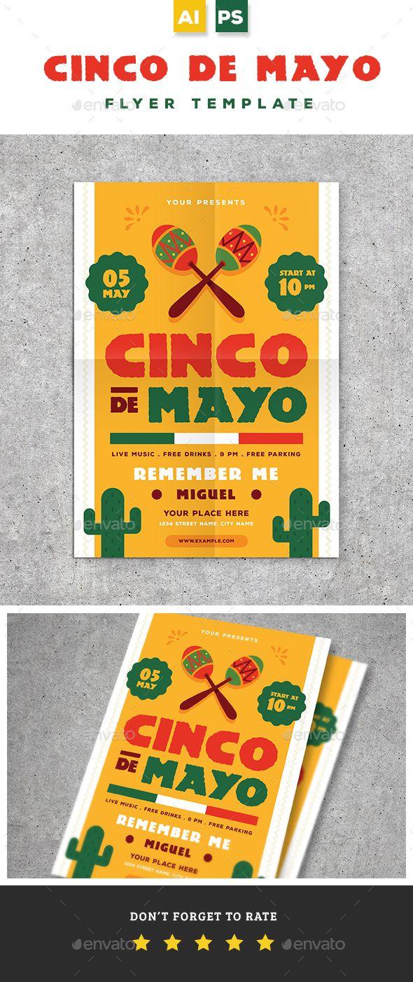 cinco de mayo flyer flyer design pinterest cinco de mayo