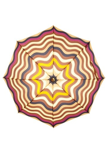 Missoni Umbrellas  Onda 3 Stick Automatic Wood Handle Long Umbrella