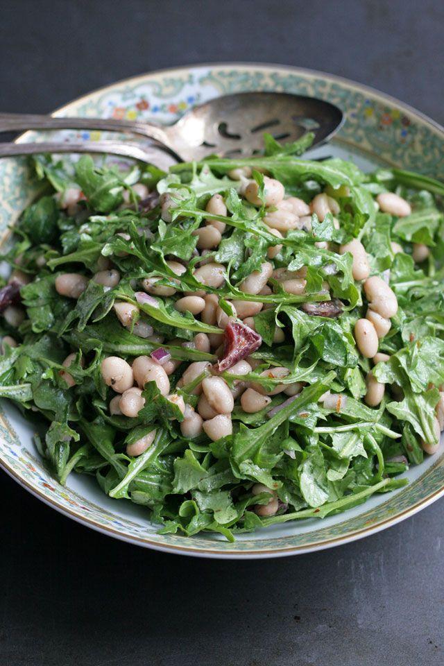 White Bean and Arugula Salad with Blood Orange Dressing
