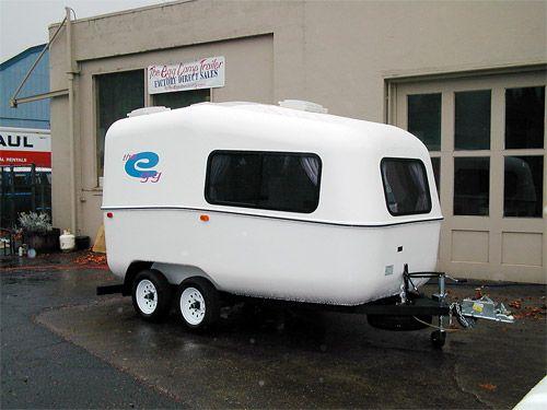 egg travel trailer