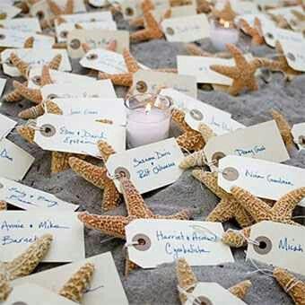 Beach wedding table ideas