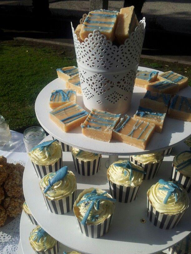 Moenae wedding dessert fudge and cupcakes