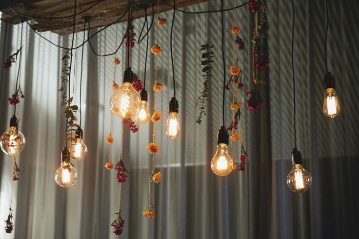 Love this hanging floral lighting / Organice Opulence / Figtree Wedding Photography