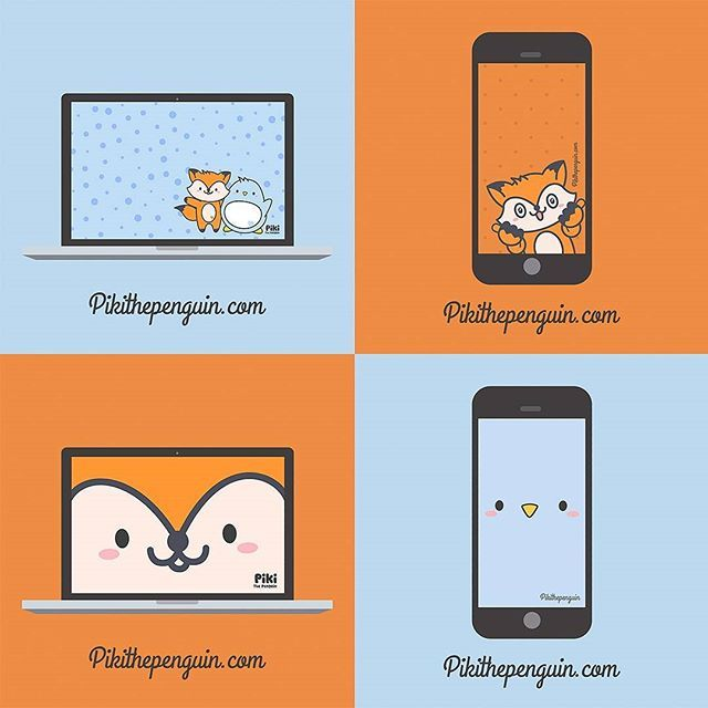 Download free Piki & Fixi's Wallpapers for Desktop and Smartphone!!! 💙🐧🐺 Go to 👉 http://www.pikithepenguin.com    #Piki #pikithepenguin #penguins #fox #wallpapers #desktop #smartphone #android #iphone #windows #free #freedownload #download #instagram #instagood #pic #kawaii #screenshot #cute #friends #accesories #pusheen #molang #apple #mac #kakaofriends #fun #cool #funny
