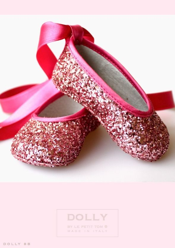 DOLLY by Le Petit Tom ® BABY BALLERINA'S 8B fuchsia glitterFuchsia Glitter, Pink Sparkle, The Small, Tom Shoes, Baby Ballerinas, Ballet Flats, Baby Girls, Petite Tom, Ballerinas 8B