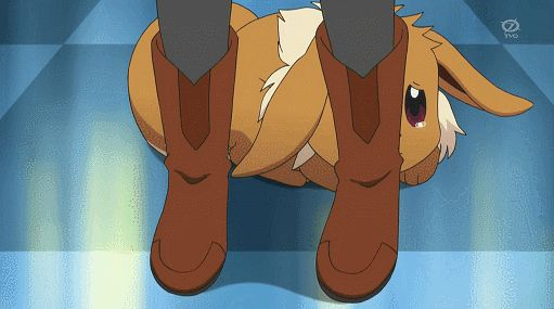 gif pokemon anime animation eevee Serena xy Pokemon XY Chespin ...
