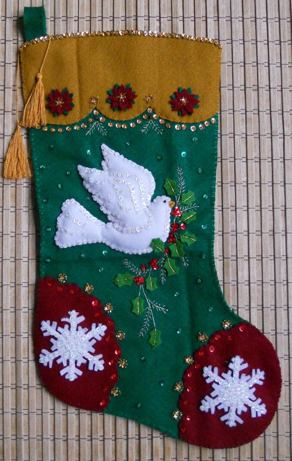Completed Bucilla Christmas Stocking Traditional by HollyCreations