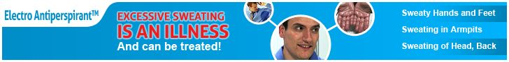 Excessive sweating is an illness and can be treated!